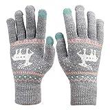 Handschuhe Frauen Damen Mädchen dicke Winterhandschuhe warm weich Wollhandschuhe Smartphone iPad touchscreen Strickhandschuhe Laufen Fahrrad Camping Damenhandschuhe als Weihnachten Geschenk