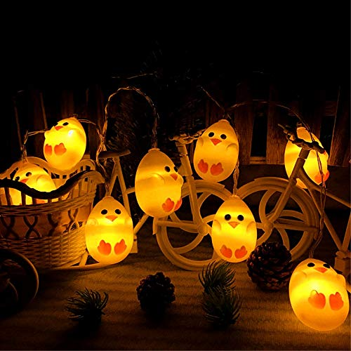 Ankamal elec 1pc pasqua led string lights, string lights a batteria chick shaped string lights, per giardino, casa, patio, matrimonio, decorazioni pasquali (3m 20led)