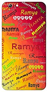 Ramya (Popular Girl Name) Name & Sign Printed All over customize & Personalized!! Protective back cover for your Smart Phone : HTC one M-9