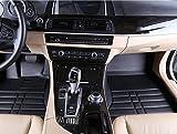 Fussmatten-Deluxe Hochwertige Auto Fußmatten Fußraumschalen Kunstleder schwarz hoher Rand