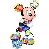 Enesco Disney By Romero Britto Mickey Calcio, Ceramica, Multicolore, 10x12x15 cm