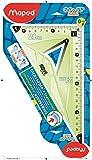 MAPED Equerre Incassable 0 positionné dans L'angle Droit et Préhension ergonomique - Equerre 2-en-1 60 et 45°, Grand côté 21 cm, Coloris Vert