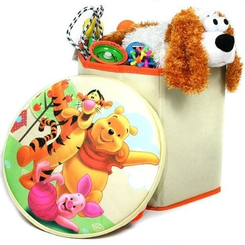Disney Winnie The Pooh Storage Box Stool Chair Padded Seat Collapsible Storage by DIsney