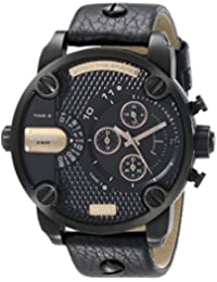 Diesel DZ7291's Watch Quartz Chronograph Stopwatch-Black Leather Strap