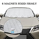 FREESOO Windscreen Frost Protector Car Snow Cover Windshield Ice Cover Dust Sun Shade Morning Time Saver in all Weather…