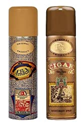 Remy Latour Cigar and Lomani El Paso Deodorant Spray, 200ml. Each, Combo of 2