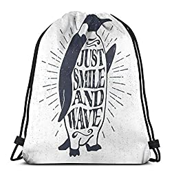 shyly Printed Drawstring Backpacks, Love Valentines Day Image Romantic Calligraphy Colored Sun Inspired Motiv,Adjustable String Closure