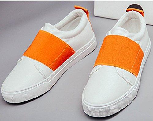 Minetom Donne Scarpe Donna Bassi Scarpe Sportive Mocassino Casuale Calzature Moda Scarpa Da Ginnastica Arancione