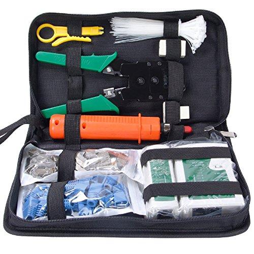 Cat5 Crimpzange (COHK Netzwerk-Werkzeugsatz, professionelle Netz-Wartung, LAN-Kabel-Tester, 9-in-1-Reparatur-Werkzeug)