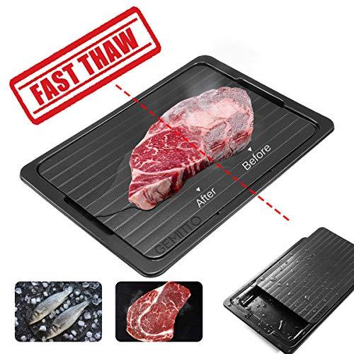 Auftauplatte Mit Tablett, Rapid Environmental Defrost Board Rapid Auftauen Tablett ohne Elektrizität Chemikalien Mikrowelle zum Auftauen von Tiefkühlkostfür Küchenwerkzeuge Aluminium Food Tray