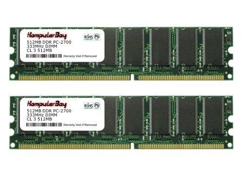 Komputerbay 1GB ( 2 x 512MB ) DDR DIMM (184 pin) 333Mhz PC 2700 Low Density 1 GB KIT - 1g 1gb 333mhz Ddr Pc