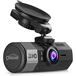 Oasser Cámara de Coche 1080P FHD Dash Cam Gran Angulo 170° G-sensor Grabadora de Detección de Movimiento Ciclo de Grabación Pantalla LCD Visión Nocturna