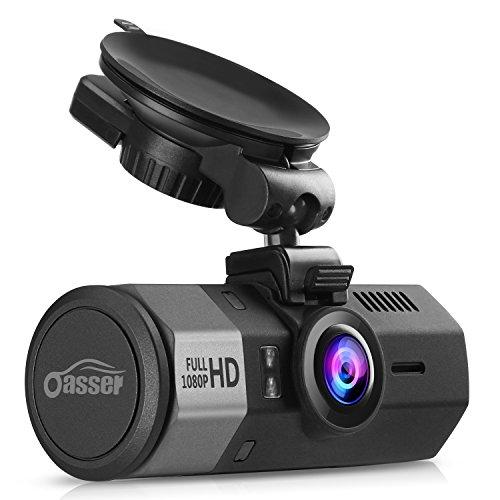 Oasser Caméra de Voiture Full HD 1920x1080P Auto Dashcam Voiture à Grand Angle de 170° Caméra Embarquée à Enregistrement en Boucle avec Capteur-G Vision Nocturne