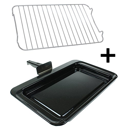 Premium Single Handle Enamelled Grill Pan /& Rack for MIELE Oven Cooker