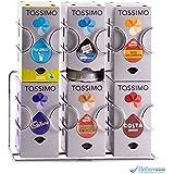 Dispensador de cápsulas tassimo, 48 cápsulas |Garantía Babavoom |Se puede montar en la pared