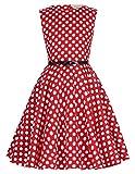 Kate Kasin Maedchen 'Audrey Hepburn' Polka Dots Kleid 9-10 Jahre KK250-11