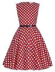 Idea Regalo - Vestiti da partito floreali senza maniche Vintage della ragazza 10-11yrs KK250-11