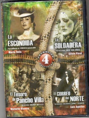la-escondida-la-soldadera-el-correo-del-norte-el-tesoro-de-pancho-villantsc-region-1-and-4-dvd-impor