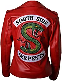 HLS Riverdale Southside Serpents V1 Women Geniune   Synthetic Leather Jacket  XXS-5XL Red 38beb951b8