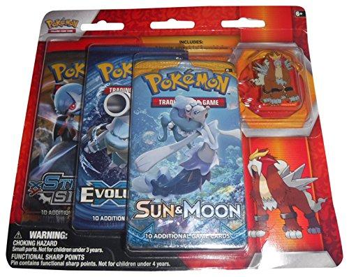Pokémon POC450 Legendary Beasts Collection Pin 3-Pack -