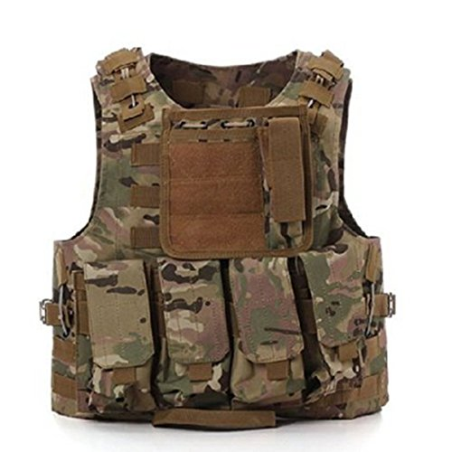 Chaleco táctico militar Molle, para juego de guerra, SWAT, Policía,