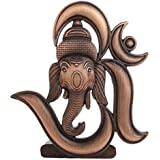 Sr Collection Bk Creation Antique Look Bronze Lord Om Ganesha Idol For Car Dashboard - Home Decore (Bk-027)
