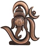 #6: Sr Collection Bk Creation Antique Look Bronze Lord Om Ganesha Idol For Car Dashboard - Home Decore (Bk-027)