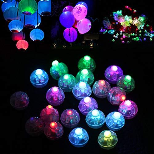 Dsaren LED Lámpara Globo, 30 Piezas Mini Flash Luces LED de Decoración Globo Linterna para Cumpleaños, Boda, Navidad, Halloween, Fiesta (Vistoso)