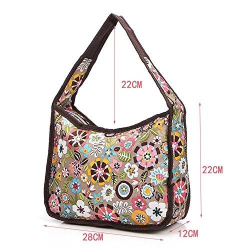 fiori di stoffa impermeabile/borsa a tracolla Ms./Borsa casuale elegante e alla moda-B A