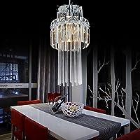 OOFAY LIGHT® Lampadario di cristallo semplice ed elegante con 1 testa e l'attacco E14/E12 Lampadario di cristallo moderno da sala cena - Elegante Cristallo