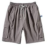 OGGI-Pantaloncini Shorts da Uomo Taglia Grossa Pantaloni da Spiaggia Casuali Sportivo Pantaloncini Comodo Bermuda Shorts Ottimo Bermuda Cargo Classico Tinta Unita Pants