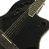 Coban Electro Noir brillant uni électro-acoustique Guitare acoustique de premier roundback (Noir brillant uni)