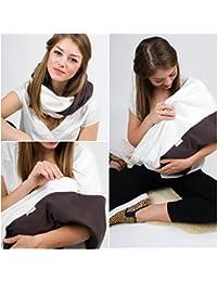 """L'écharpe-tube d'allaitement """"White Coffee"""" avec petites poches pour coussinetsd'allaitement. S-M"""