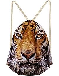 Preisvergleich für ChAQLIN Stofftasche mit Tier-Motiven im Kawaii-Stil bedruckt, mit Kordelzug, ideal für Reisen, zum Aufbewahren...
