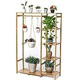 Blumenständer Balkon Eisenkunst Blumentopf Regal Wohnzimmer Multilayer Stand hängende Orchideen stehen Hanging Multifunktions Regal Vogelkäfig hängen 18BS