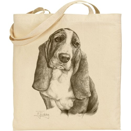 Mike Sibley Basset Hound Cotton Natural Bag