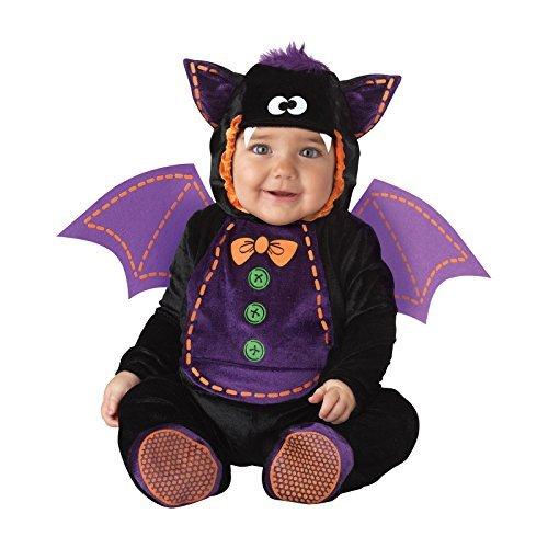 Jungen Mädchen Fledermaus büchertag Halloween Charakter Kostüm Kleid Outfit - Schwarz, Schwarz, 6-12 Months (Amazon Halloween Kostüme Kinder)