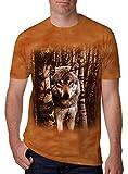 Leapparel Unisex 3D Bad Wolf Grafik Print Kurzarm Lustige T-Shirt Top für Jungen und Mädchen Brown S