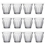 Duralex Picardie Wasser / Saft Traditionelle Tumbler Gläser - 130ml - Packung mit 12