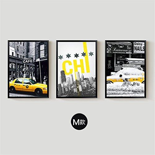 Woo.J?Leinwand Kunst Bild 3 Teile Farbe TINTENSTRAHLDRUCK neue Moderne Wand, 50 * 70 cm, M