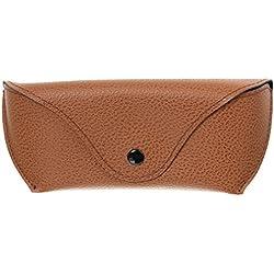 V-SOL Estuche Caja de Gafas de Cuero Artificial (marrón)