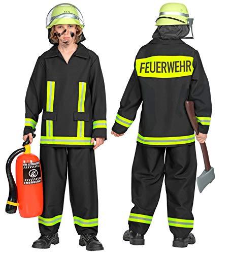 24costumes Feuerwehr Kostüm | 2-teilig: Oberteil & Hose | Kinder & Jugendliche | authentisches deutsches Design: Größe: (Feuerwehr Hose Kostüm)
