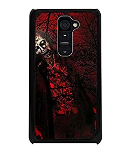 PrintDhaba Ghost D-4339 Back Case Cover for LG G2 (Multi-Coloured)