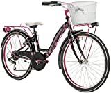 24 Zoll Mädchen Fahrrad 6 Gang Adriatica CTB, Farbe:schwarz-pink