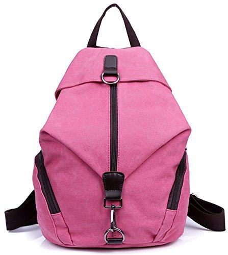 ERGEOB Damenrucksack Groß-Mode Persoenlichkeit Rucksack Hochschule Studenten Rucksackhandtaschen Blau 05 Pink