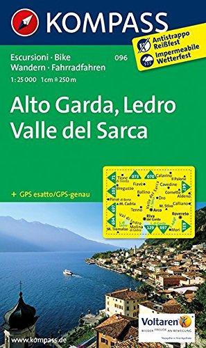 Carta escursionistica n. 096. Alto Garda, Val di Ledro 1:25.000. Adatto a GPS. Digital map. DVD-ROM: Wandelkaart 1:25 000