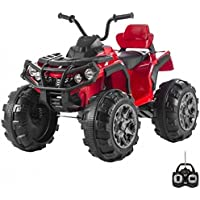 BABYCAR 0906r – Quad Outlander eléctrico Full Optional con amortiguación y MP3, 12 V, rojo