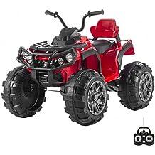 Babycar 0906r - Quad Outlander Elettrico Full Optional con Ammortizzatori e Mp3, 12 Volt, Rosso