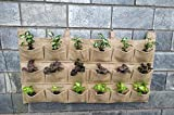 Bio Blooms 18 Pockets 3 Rows Vertical Garden Plant Growing Container Bag Made