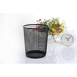 timesfriend Deko Büro Trash kann gewerblichen Küche Gallonen Recycle Organizer Garbage, die Sie Abfalleimer kann Container Halter Rack Abfall Korb wiederverwendbar Müll Wrap Umweltfreundlich Köcher, Schwarz , Middle